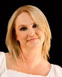blond ståendekvinna Arkivbilder