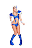 Blond in stage costume Royalty Free Stock Photography
