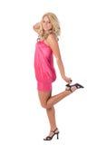 blond standing för fotflicka en Arkivbilder