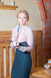 Blond student. Royalty Free Stock Photo
