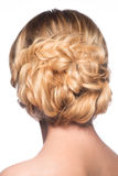 Blond with stylish hairdo Royalty Free Stock Photos