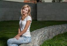 Blond sun park wall Stock Photos