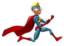 Blond superhero Royalty Free Stock Photos