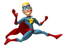 Blond superhero. 3d generated picture Royalty Free Stock Images