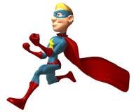 Blond superhero Stock Image