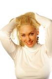 Blond Supermodel Fotografering för Bildbyråer