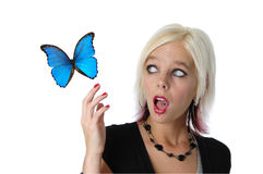 Blond surprised Stock Images