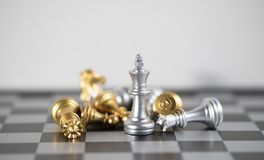 Blond is only survie for this business. Chess board is the intelligence strategy game to make ideas for business and marketing concept, the success ideas is royalty free stock photo