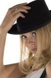 blond tät dansare upp royaltyfri fotografi