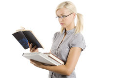 The blond teacher Stock Images