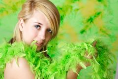 Blond teen girl Royalty Free Stock Images