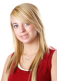 Blond teen girl Stock Photos