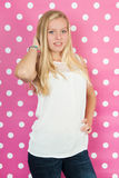 Blond teen girl. Studio portrait blond teen girl Royalty Free Stock Photography