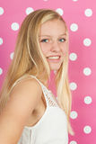 Blond teen girl. Studio portrait blond teen girl Stock Photos