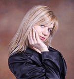 Blond teenage girl Royalty Free Stock Photography