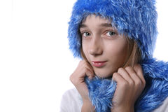 Blond teenage girl Stock Images
