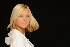Blond teenage girl portrait Royalty Free Stock Images