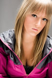 Blond teenage girl portrait Stock Image