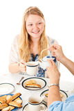 Blond Teenage Girl at Tea Party Stock Photo
