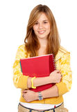Blond teenage student smiling Stock Image