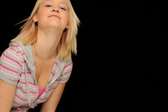Blond teenager Stock Photo