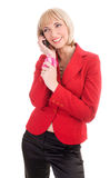 Blond am Telefon Lizenzfreies Stockbild