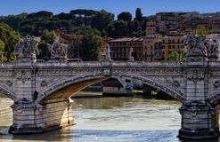 Blond Tiber. The bridge of Castel San'Angelo Stock Photo