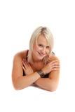 Blond tiré par beauté Images stock
