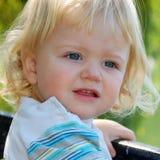 Blond toddler boy Stock Photography