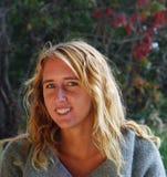 blond tonåring Arkivbild