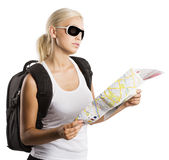 Blond tourist Royalty Free Stock Images