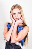 blond trendig tonåring royaltyfri fotografi