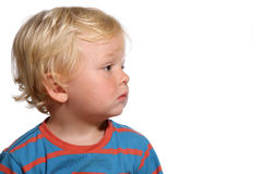 Blond two year old boy Royalty Free Stock Photography