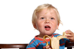 Blond two year old boy Royalty Free Stock Photo