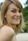 blond uśmiechnięte kobiety Obrazy Royalty Free
