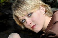 Blond und Blau gemustert Lizenzfreies Stockfoto