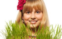Blond und Frühling Stockbild