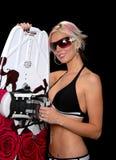 Blond und Wakeboard Stockbilder