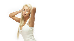 Blond underwear beauty Stock Images