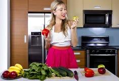 Blond Vegetarian Girl Stock Images
