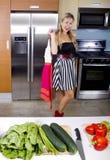 Blond Vegetarian Girl Royalty Free Stock Photography