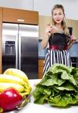 Blond Vegetarian Girl Royalty Free Stock Image