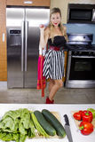 Blond Vegetarian Girl Stock Photo