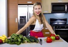 Blond Vegetarian Girl Stock Image