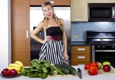 Blond Vegetarian Girl Royalty Free Stock Images