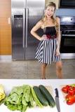 Blond Vegetarian Girl Stock Photography
