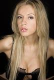 Blond vrouwenportret Stock Afbeeldingen