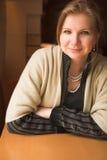 Blond vuxen kvinna Fotografering för Bildbyråer