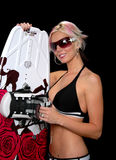 Blond and Wakeboard Stock Images