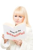 Blond want to be beautiful Royalty Free Stock Image
